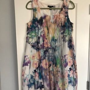 Watercolor Maternity Dress
